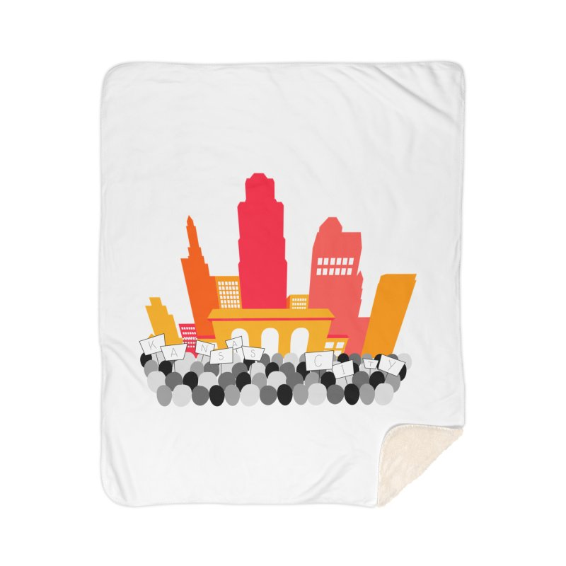 KC Union Station rally skyline Home Blanket by The Pitch Kansas City Gear Shop