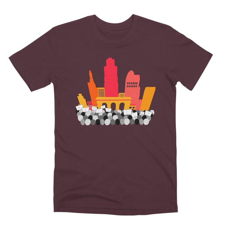 KC Union Station rally skyline Men's T-Shirt by The Pitch Kansas City Gear Shop