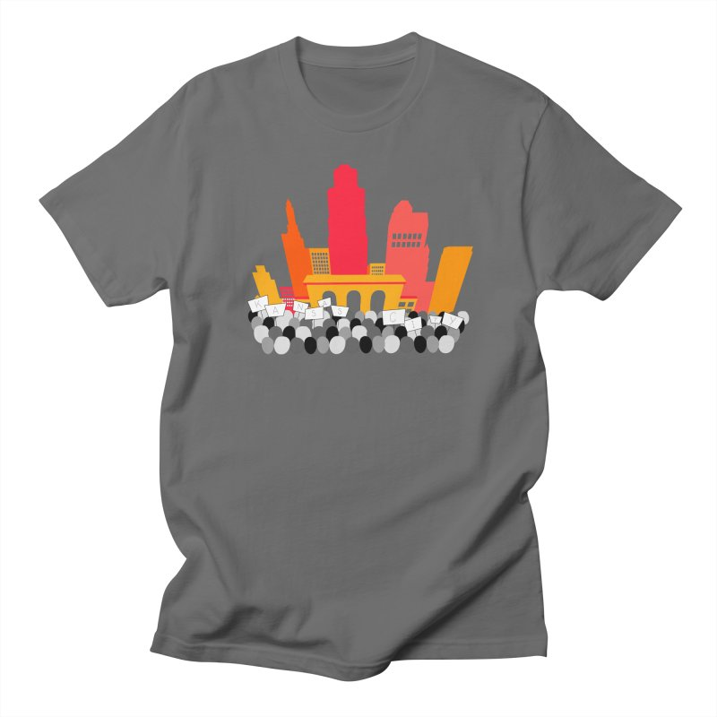 KC Union Station rally skyline Men's T-Shirt by The Pitch Kansas City Gear Shop