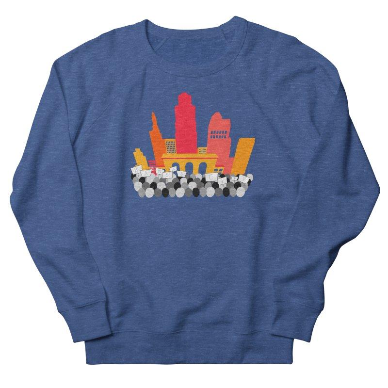 KC Union Station rally skyline Men's Sweatshirt by The Pitch Kansas City Gear Shop