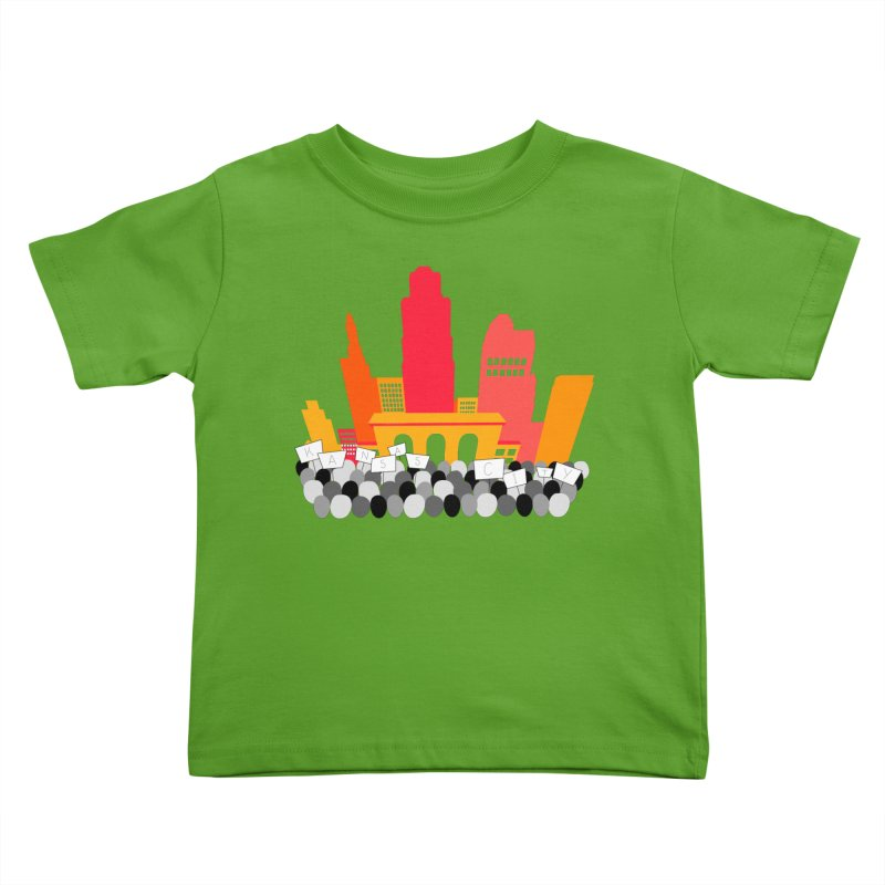 KC Union Station rally skyline Kids Toddler T-Shirt by The Pitch Kansas City Gear Shop