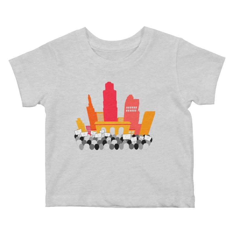 KC Union Station rally skyline Kids Baby T-Shirt by The Pitch Kansas City Gear Shop