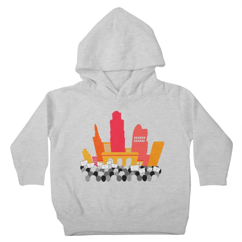 KC Union Station rally skyline Kids Toddler Pullover Hoody by The Pitch Kansas City Gear Shop
