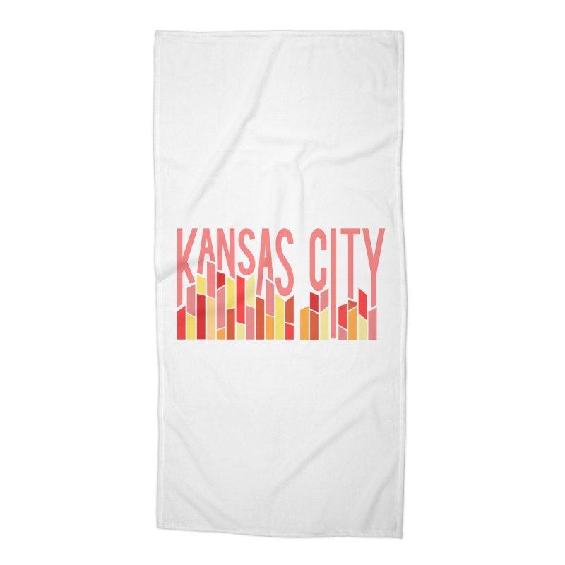 KC Fire Accessories Beach Towel by The Pitch Kansas City Gear Shop