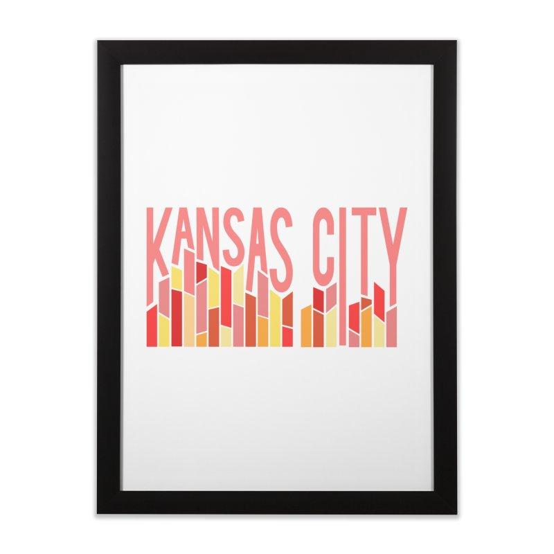 KC Fire Home Framed Fine Art Print by The Pitch Kansas City Gear Shop