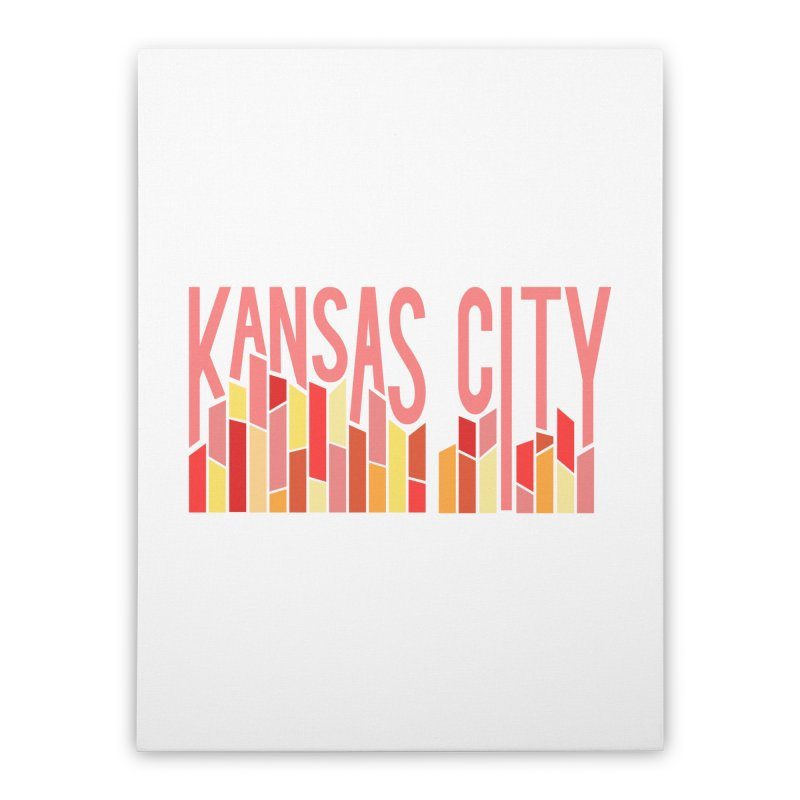 KC Fire Home Stretched Canvas by The Pitch Kansas City Gear Shop
