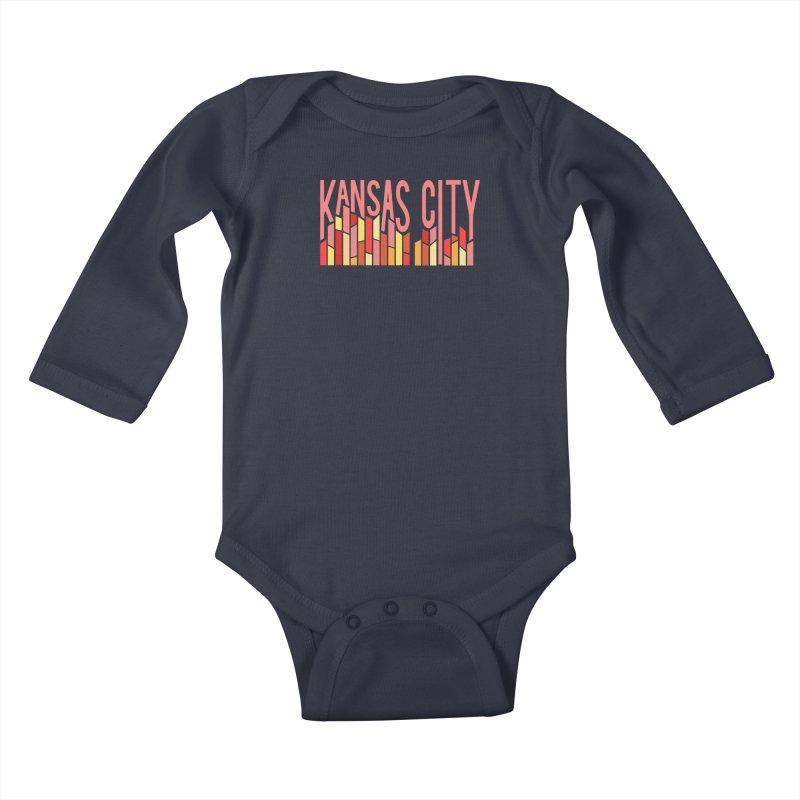 KC Fire Kids Baby Longsleeve Bodysuit by The Pitch Kansas City Gear Shop