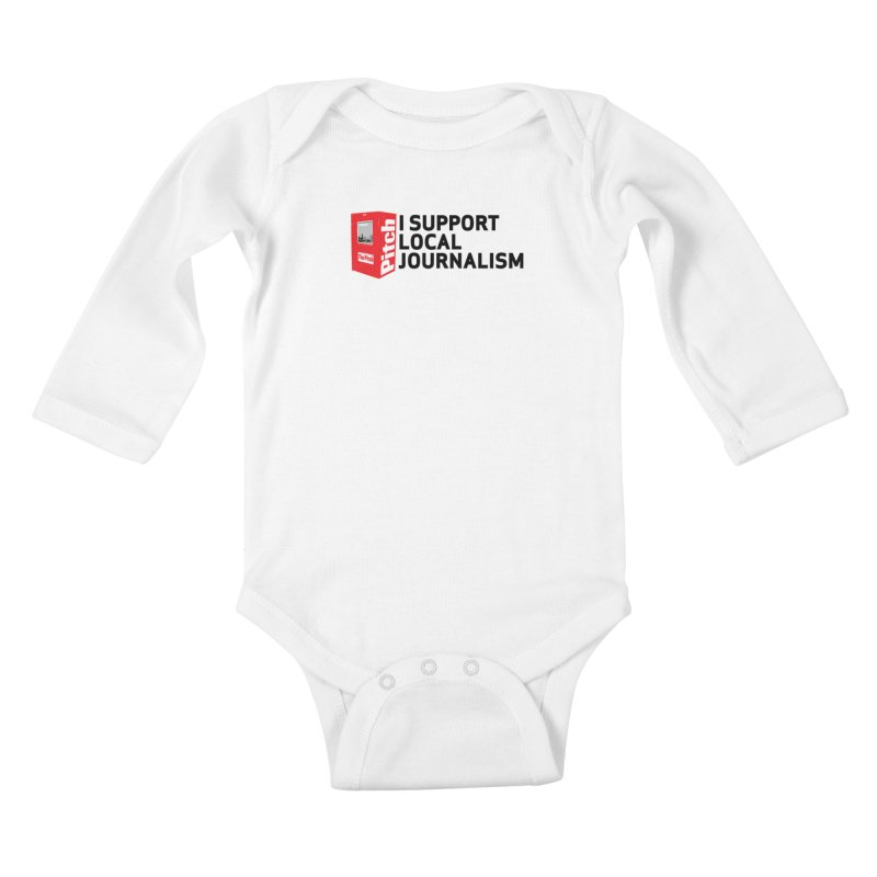 I Support Local Journalism Kids Baby Longsleeve Bodysuit by The Pitch Kansas City Gear Shop