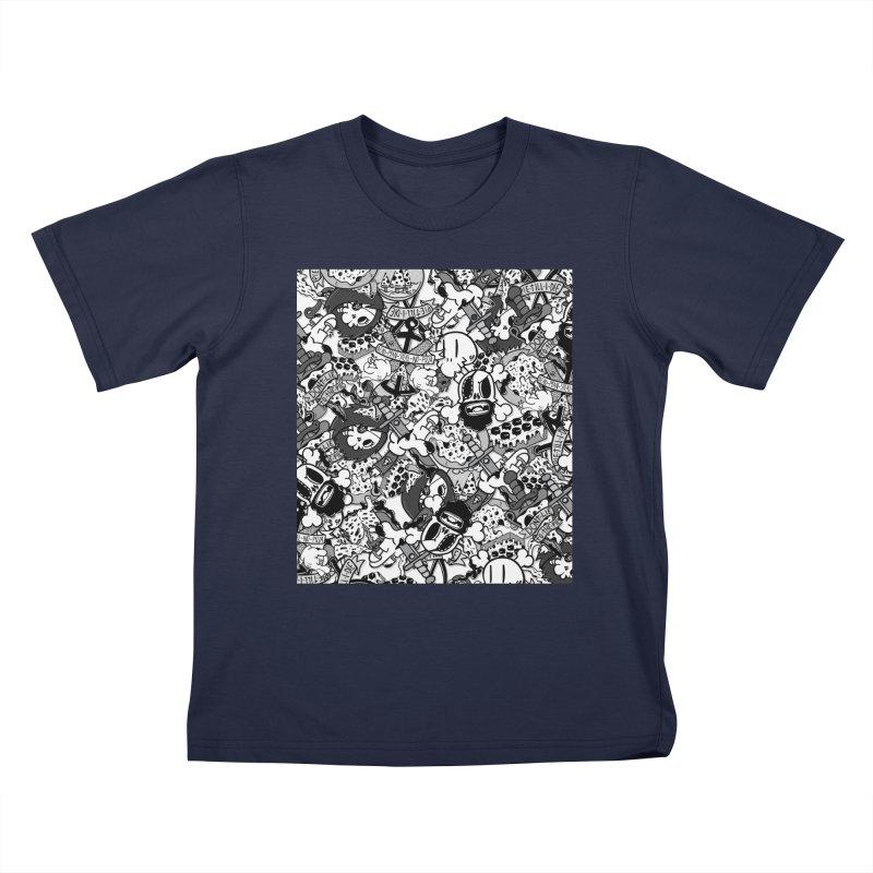 Sticker Mix 2019 Kids T-Shirt by Pizza Pirate Tavern