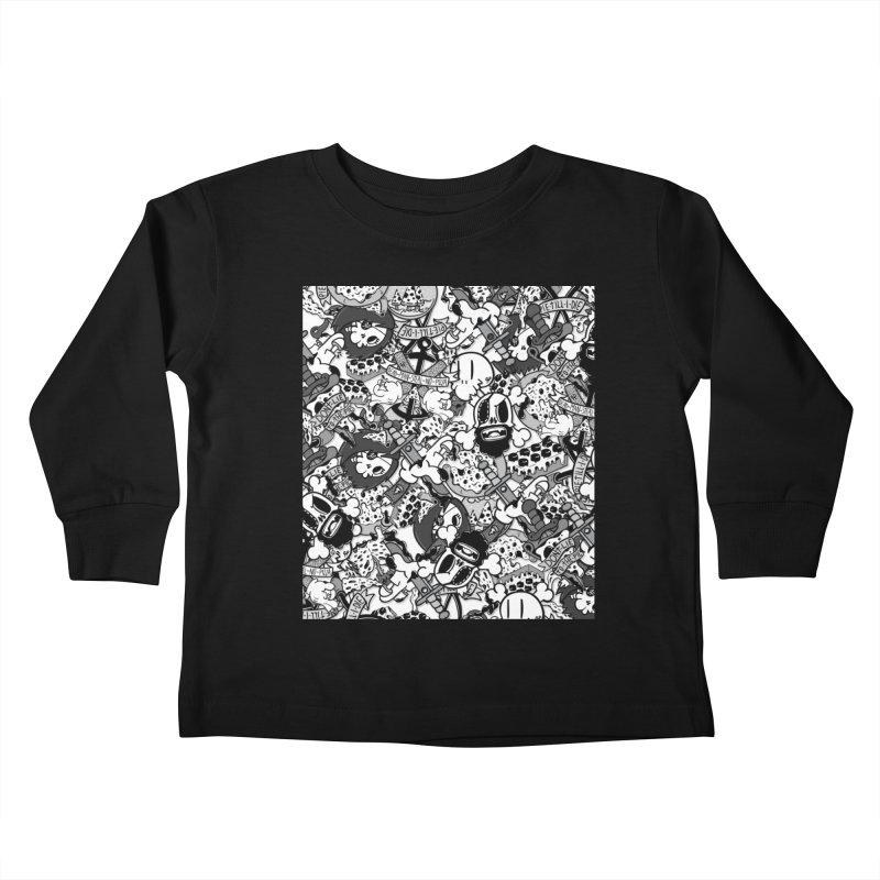 Sticker Mix 2019 Kids Toddler Longsleeve T-Shirt by Pizza Pirate Tavern