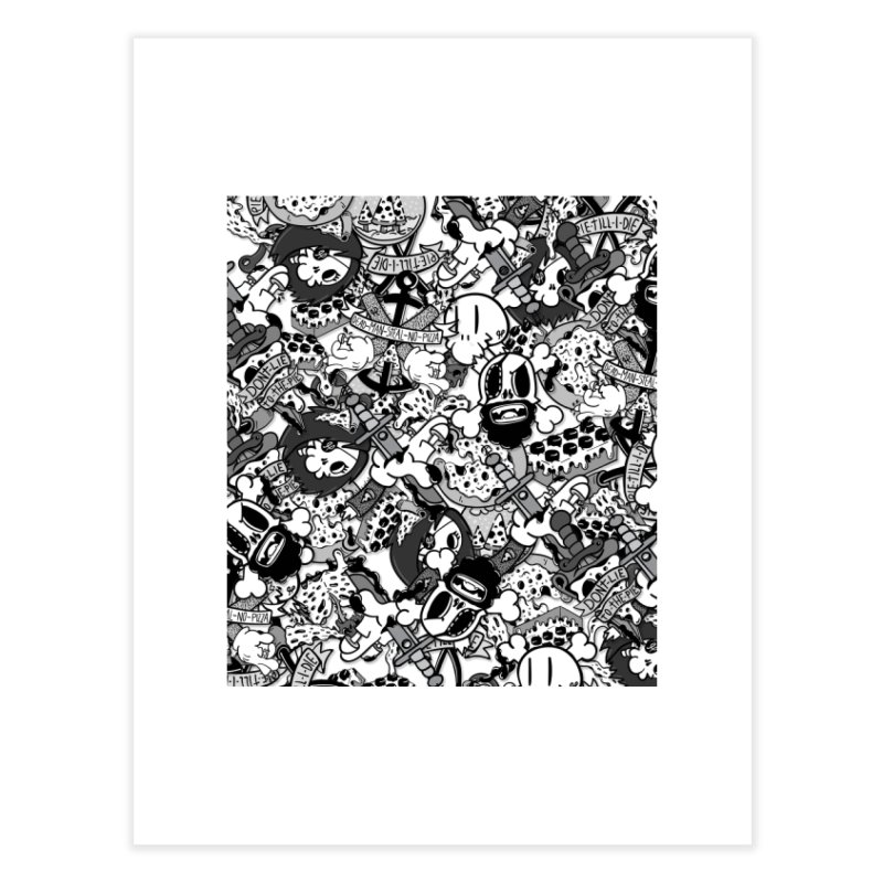 Sticker Mix 2019 Home Fine Art Print by Pizza Pirate Tavern