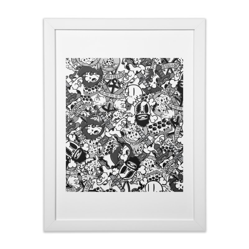 Sticker Mix 2019 Home Framed Fine Art Print by Pizza Pirate Tavern