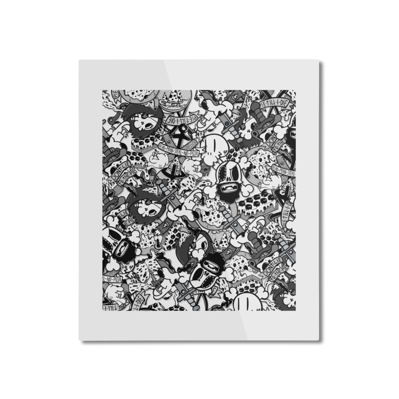 Sticker Mix 2019 Home Mounted Aluminum Print by Pizza Pirate Tavern
