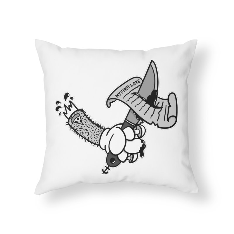 My First Love Home Throw Pillow by Pizza Pirate Tavern