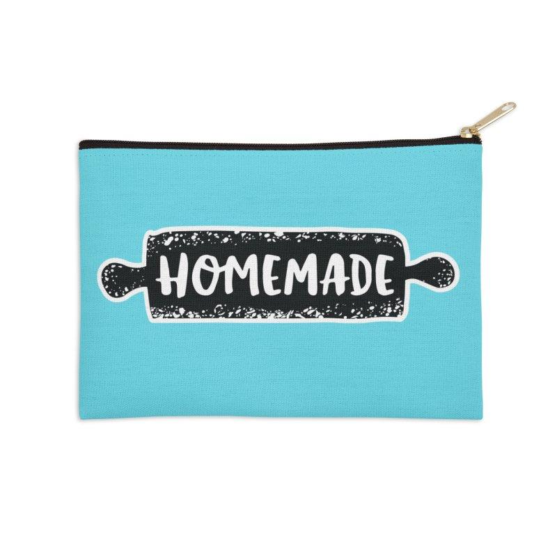 HOMEMADE Accessories Zip Pouch by theplatformgroup's Artist Shop