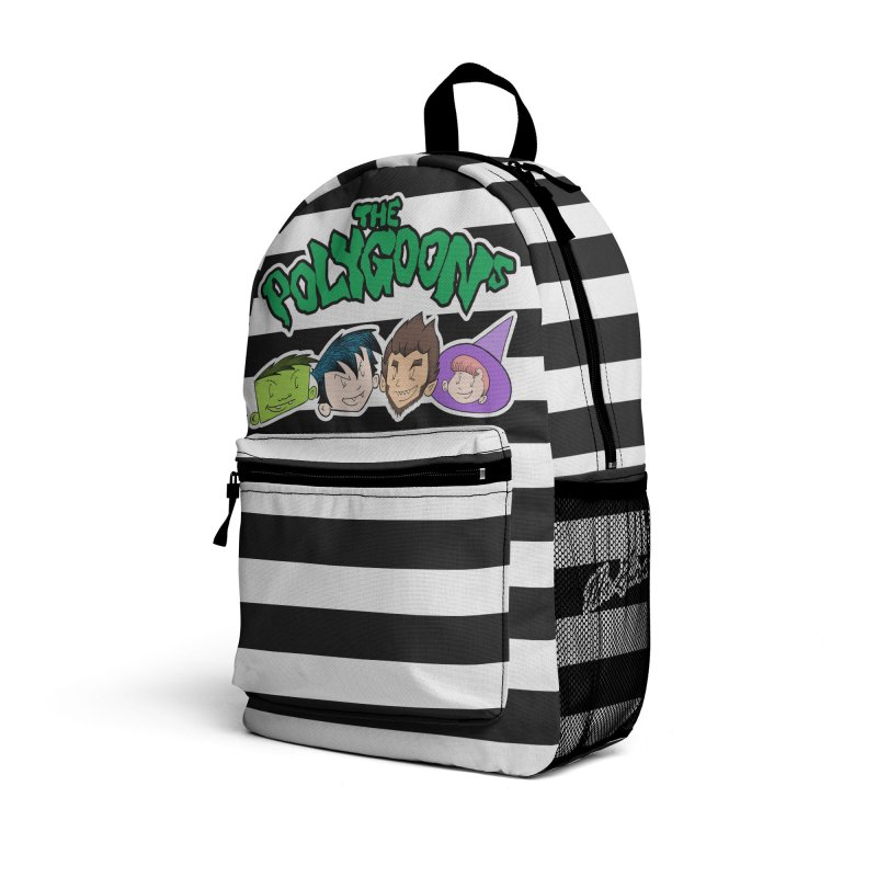 The Polygoons Backpack bw Accessories Bag by The Polygoons' Shop