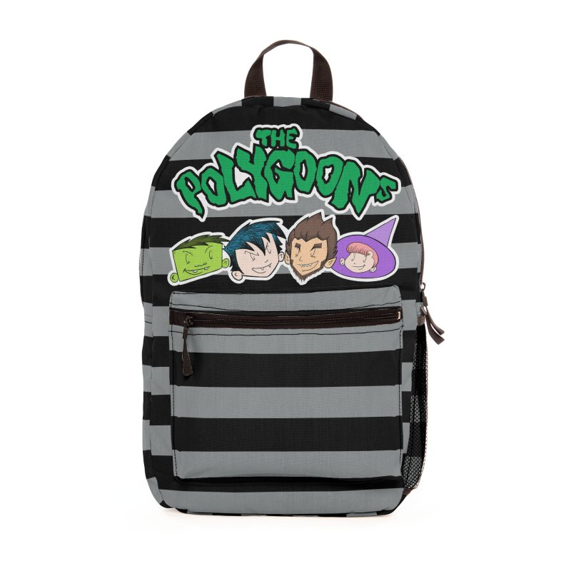 The Polygoons Backpack (Gray) Accessories Bag by The Polygoons' Shop