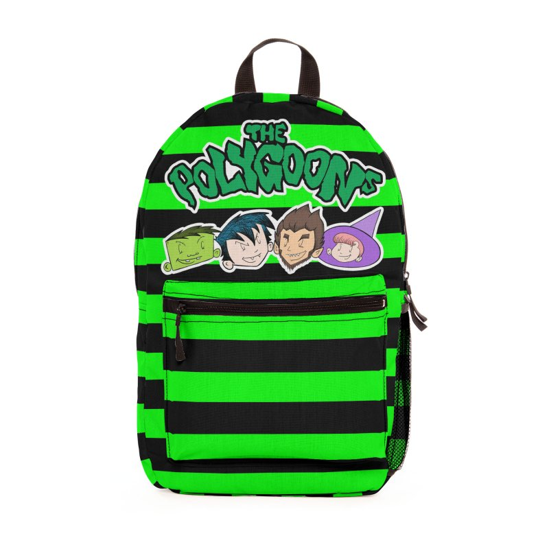 The Polygoons Backpack (Green) Accessories Bag by The Polygoons' Shop