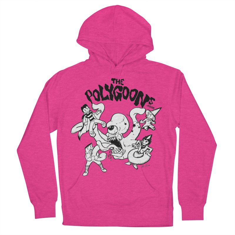 Polygoons vs. Mutoid Women's French Terry Pullover Hoody by The Polygoons' Shop
