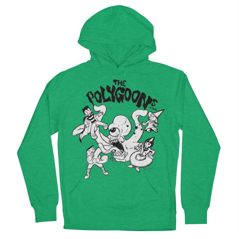 Polygoons vs. Mutoid Men's French Terry Pullover Hoody by The Polygoons' Shop