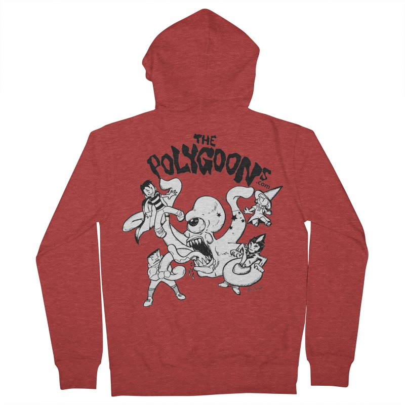 Polygoons vs. Mutoid Women's French Terry Zip-Up Hoody by The Polygoons' Shop