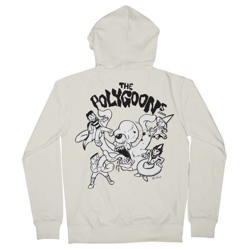 Polygoons vs. Mutoid Men's French Terry Zip-Up Hoody by The Polygoons' Shop