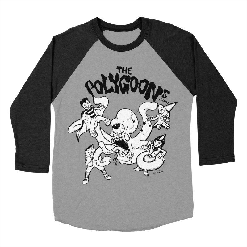 Polygoons vs. Mutoid Women's Baseball Triblend Longsleeve T-Shirt by The Polygoons' Shop