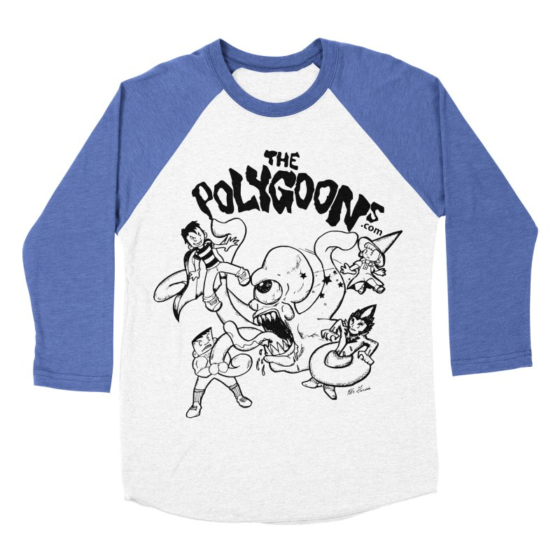 Polygoons vs. Mutoid Men's Baseball Triblend Longsleeve T-Shirt by The Polygoons' Shop