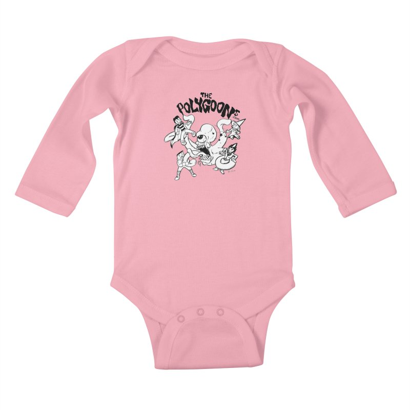 Polygoons vs. Mutoid Kids Baby Longsleeve Bodysuit by The Polygoons' Shop