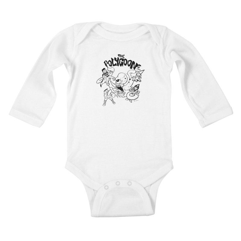 Polygoons vs. Mutoid Kids Baby Longsleeve Bodysuit by The Polygoons' Shop