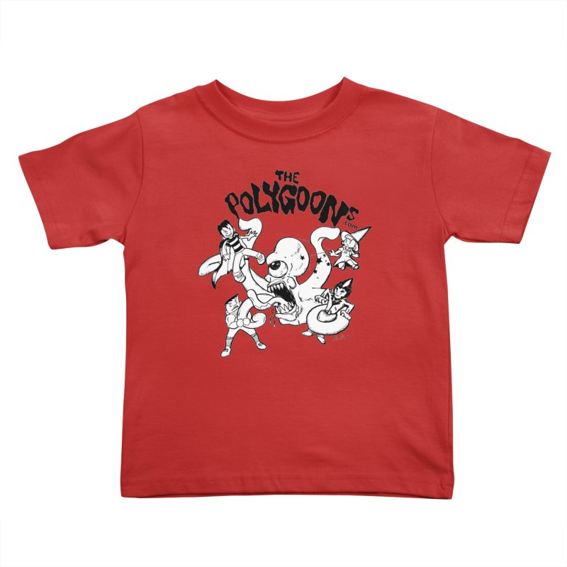 Polygoons vs. Mutoid Kids Toddler T-Shirt by The Polygoons' Shop