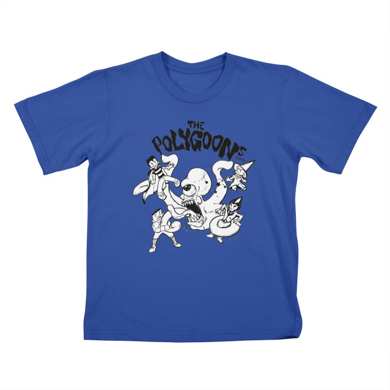 Polygoons vs. Mutoid Kids T-Shirt by The Polygoons' Shop