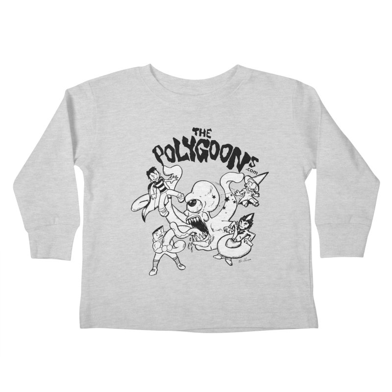 Polygoons vs. Mutoid Kids Toddler Longsleeve T-Shirt by The Polygoons' Shop