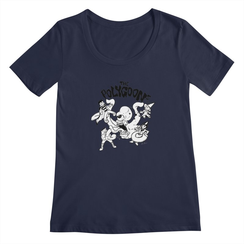 Polygoons vs. Mutoid Women's Regular Scoop Neck by The Polygoons' Shop