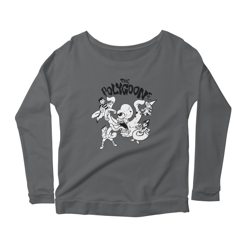 Polygoons vs. Mutoid Women's Scoop Neck Longsleeve T-Shirt by The Polygoons' Shop