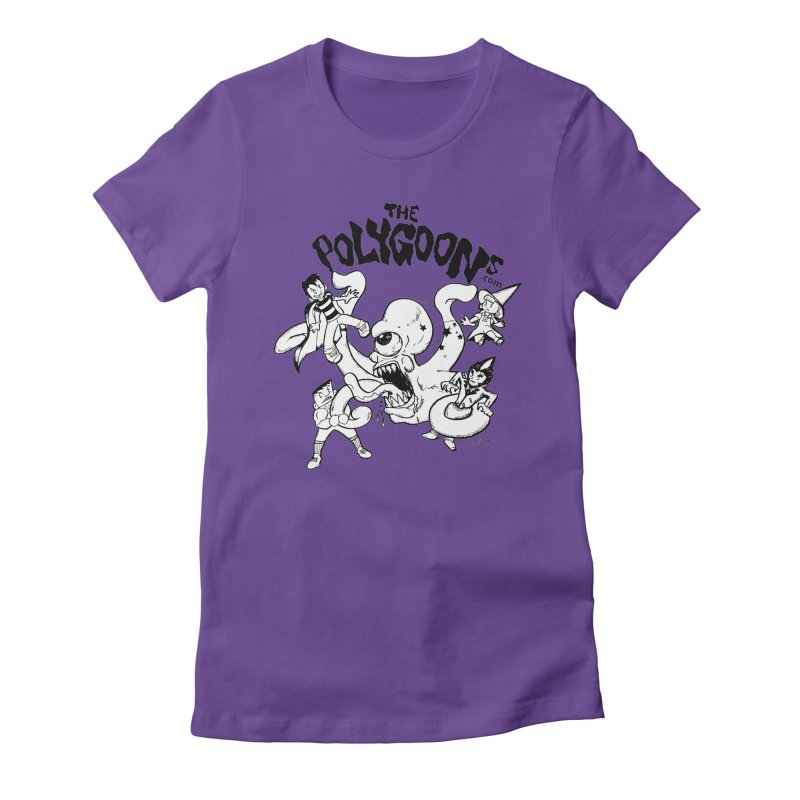 Polygoons vs. Mutoid Women's Fitted T-Shirt by The Polygoons' Shop