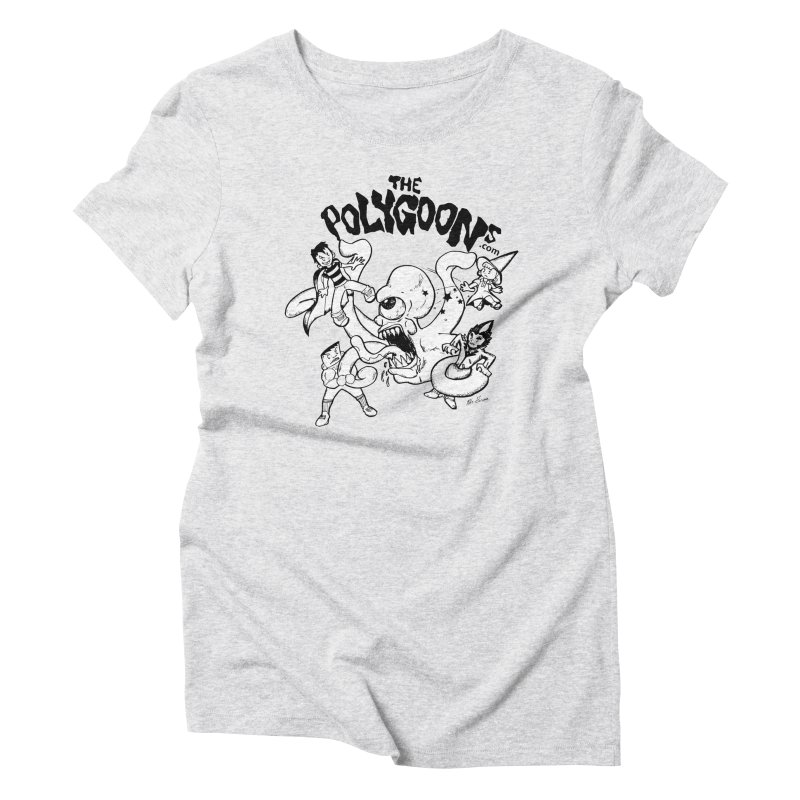 Polygoons vs. Mutoid Women's Triblend T-Shirt by The Polygoons' Shop