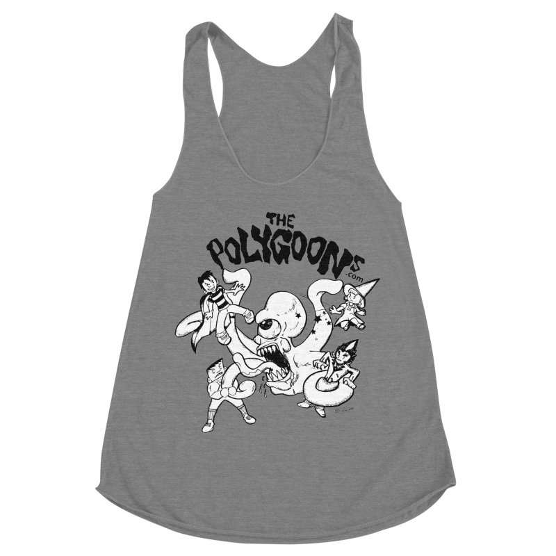 Polygoons vs. Mutoid Women's Racerback Triblend Tank by The Polygoons' Shop
