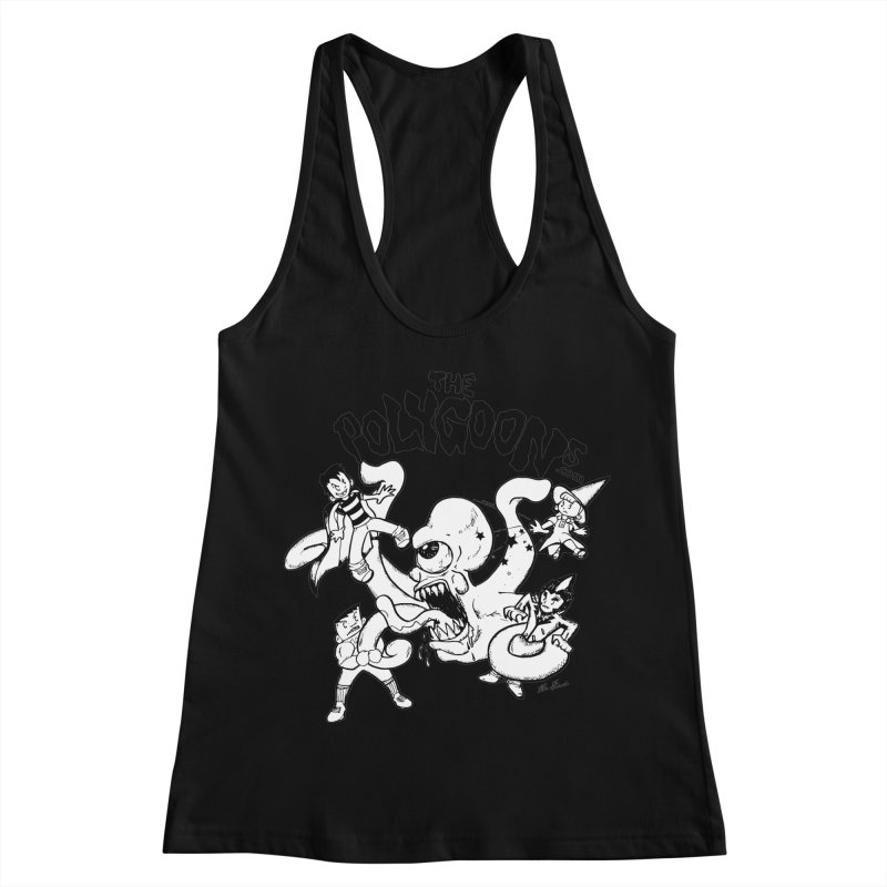 Polygoons vs. Mutoid Women's Racerback Tank by The Polygoons' Shop