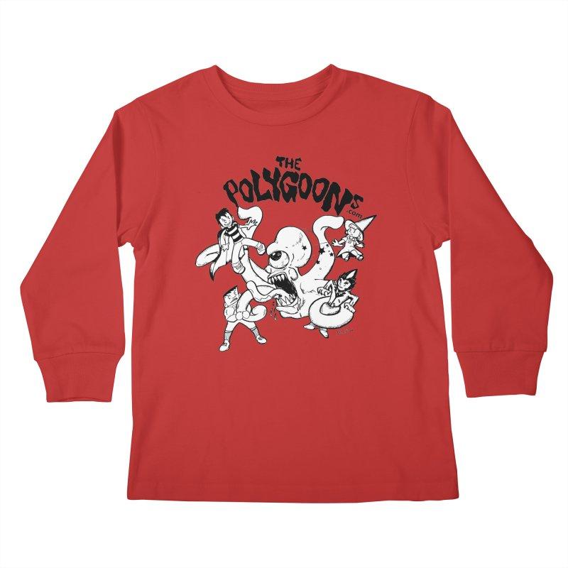 Polygoons vs. Mutoid Kids Longsleeve T-Shirt by The Polygoons' Shop