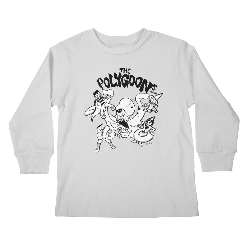 Polygoons vs. Mutoid Kids Longsleeve T-Shirt by The Polygoons' Shop
