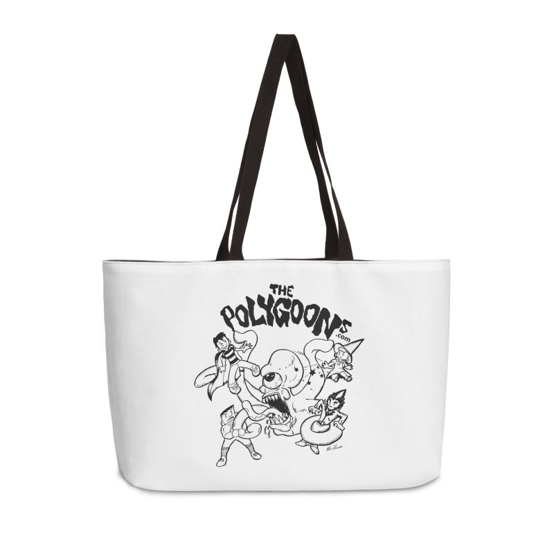 Polygoons vs. Mutoid Accessories Weekender Bag Bag by The Polygoons' Shop