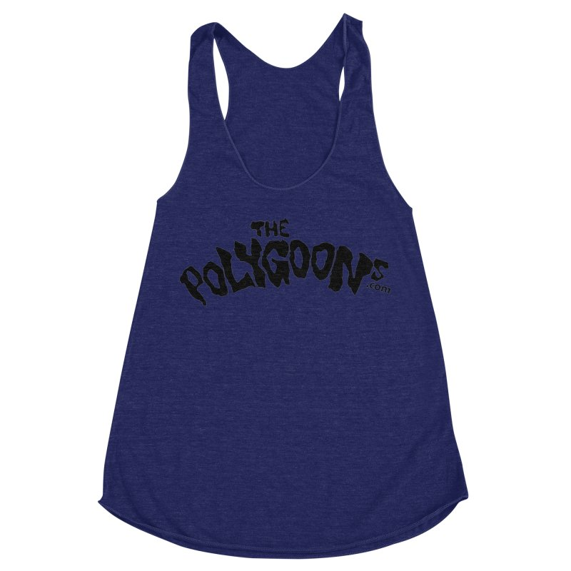 The Polygoons Logo Women's Racerback Triblend Tank by The Polygoons' Shop