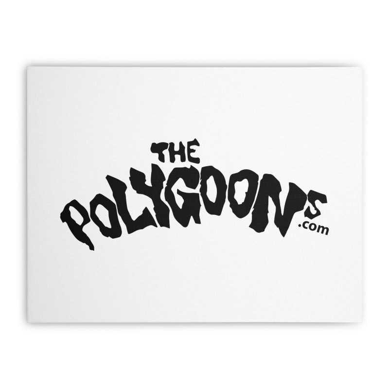 The Polygoons Logo Home Stretched Canvas by The Polygoons' Shop