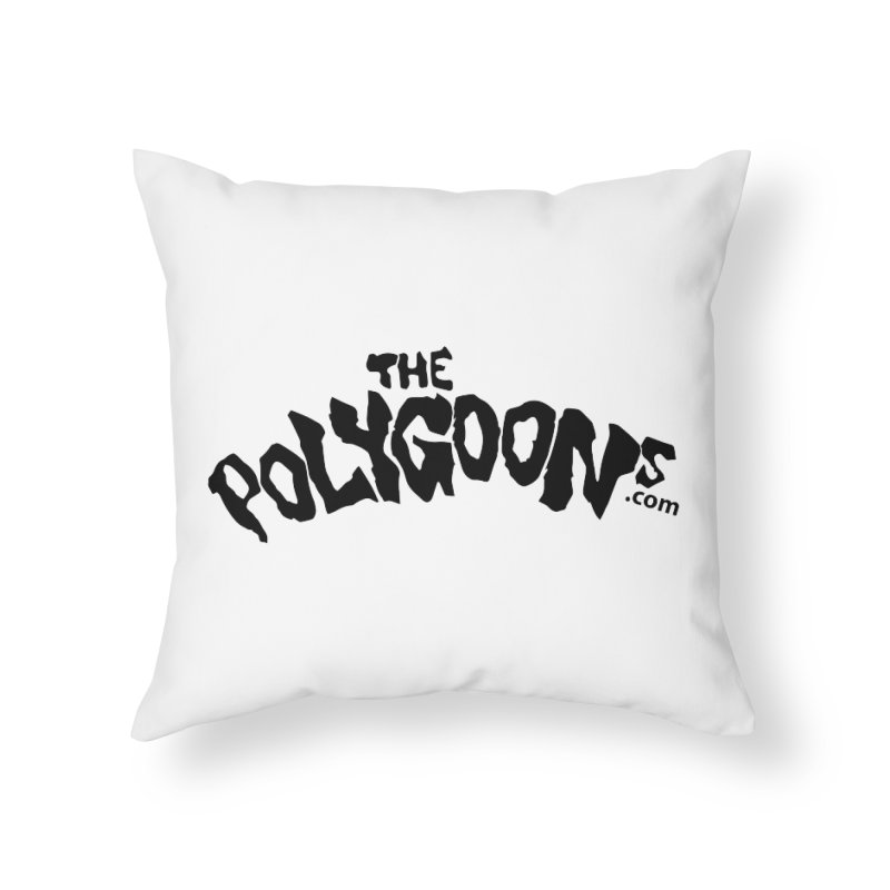 The Polygoons Logo Home Throw Pillow by The Polygoons' Shop