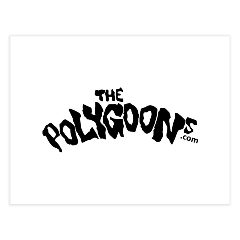 The Polygoons Logo Home Fine Art Print by The Polygoons' Shop