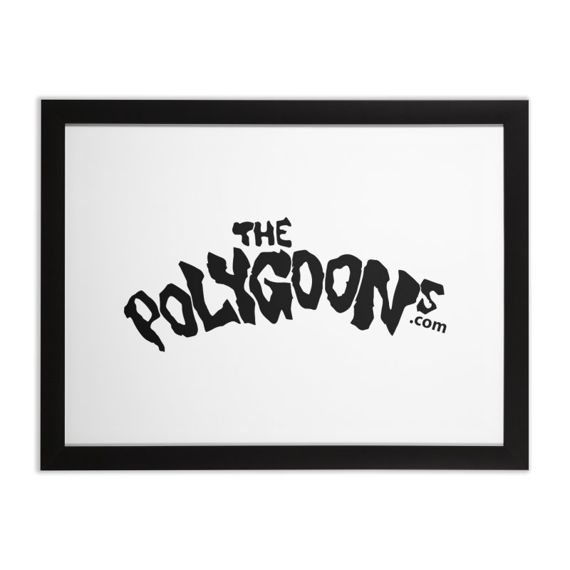 The Polygoons Logo Home Framed Fine Art Print by The Polygoons' Shop