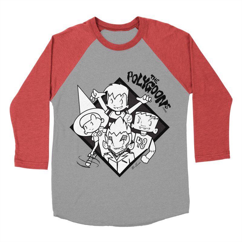 The Polygoons (Group) Men's Baseball Triblend Longsleeve T-Shirt by The Polygoons' Shop