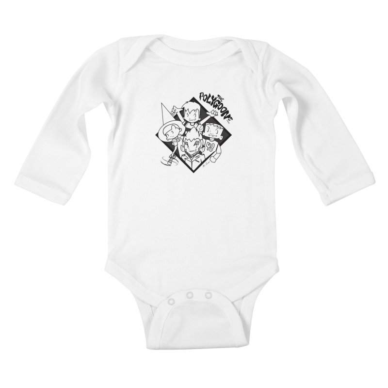 The Polygoons (Group) Kids Baby Longsleeve Bodysuit by The Polygoons' Shop