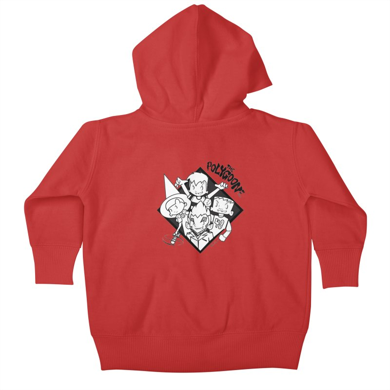 The Polygoons (Group) Kids Baby Zip-Up Hoody by The Polygoons' Shop